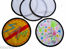 Colour Your Own Frisbee 25cm Flying Disc Garden Toy Kids Fabric Paints Pack of 5