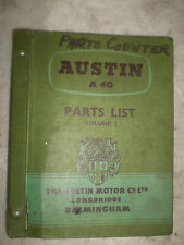 Austin A40 Service parts list dated May 1959