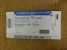 02/11/2013 BIGLIETTO: Peterborough United V Leyton Orient. grazie per la visualizzazione del nostro