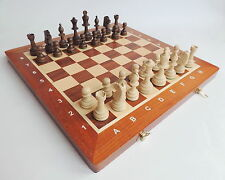 BRAND NEW MADON TOURNAMENT NR 4 WOODEN CHESS SET 40cm WITH WEIGHTED PIECES