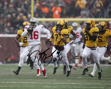 JT Barrett Ohio State Buckeyes QB Football Signed 8X10 Photo Rp OH-IO J.T.