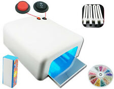 NAIL CURING DRYING LAMP 36W for Shellac Gelish & UV Gels 4 Bulbs Included