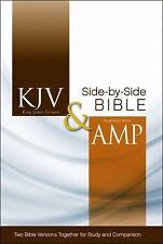 KJV and Amplified Side-by-Side Bible (2012, Hardcover)