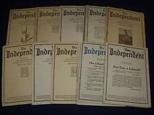 1923-1924 THE INDEPENDENT WEEKLY MAGAZINE LOT OF 35 - ARTICLES & ADS - WR 707