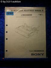 Sony Mechanical Adjustment Manual VI J Mechanism Digital Deck (#5703)