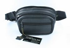 Roma Leather Pistol Concealment Fanny Pack - CCW Concealed Carry - Small Gun