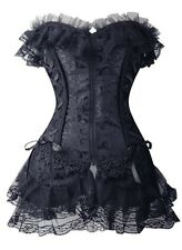 Plus Size Lingerie 4X Victorian Brocade Lace Up Corset SEXY Costume Bustier