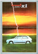 VOLKSWAGEN Golf KAMEI x1 Berline MK1 début 1980 marché allemand la brochure commerciale