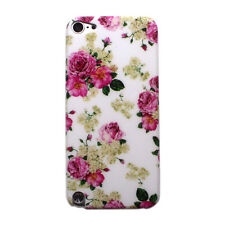 Pink Flower Rose Floral Hard Back Case Cover for iPod Touch 5 gen 5th generation