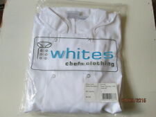 WHITE'S SHORT SLEEVED CHEF'S JACKETS IN WHITE X SMALL WITH  STUD FASTENERS - NEW