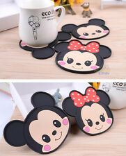 2pcs Mikey Mouse Silicone Coffee Coaster Beer Cup Glass Beverage Holder Pad Mat
