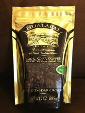 Hualalai Estate - 100%  PREMIUM Kona Coffee - Medium-Dark Roast 7oz - WHOLE BEAN