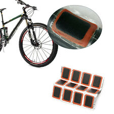 48Pcs Bicycle Bike Motor Tyre Tire Tube Puncture Rubber Patches Repair Patch Kit