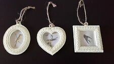 CREAM MINI HANGING HEART  ROCOCO PHOTO FRAMES