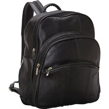 R & R Collections Leather Triple Zip Around Large Backpack Handbag NEW