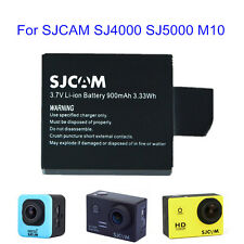 Replacement 900mAh 3.7V Li-ion Battery Rechargeable For SJCAM SJ4000 SJ5000 M10