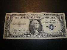 (1) $1.00 Series 1957 B Silver Certivicate AU Circulated Condition