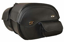 Motorcycle Saddle Bags with Side Pockets with Gun Strapping 16 x 10 x 6