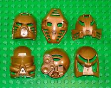 Rare PEARL GOLD - All 6 Original Toa Kanohi - Lego Bionicle Mask Set