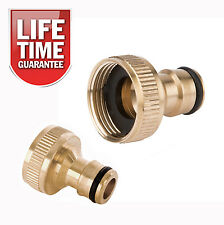 "3/4"" Brass Tap to Hose Connector Garden Water Pipe Quick Adaptor Fitting Thread"