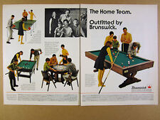 1968 Brunswick Table Tennis Ping-Pong Bumper Pool & Billiards Table vintage Ad