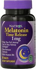 Melatonin Time Release, Natrol, 90 tablets 1mg