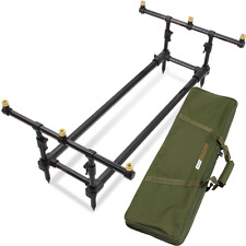 NGT CARP FISHING PROFILER ROD POD LOW FRAME WITH CARRY CASE AND 3 ROD BUZZ BARS
