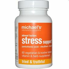 Michael's Naturopathic, Adrenal Factors, Stress Support, 60 Veggie Tabs