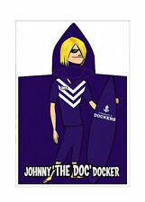 Fremantle Dockers Mascot AFL Kids Purple Printed Velour Hooded Towel Poncho New