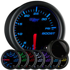 52mm GlowShift 7 Color Turbo Boost 35 PSI Gauge w. Smoked Lens