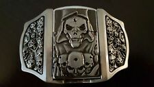 Belt Buckle with Lighter Storm lighter Skull Biker M2