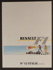 Graton Michel Vaillant pub Renault 12 Formule 1 Italie Monza 1989