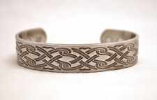 UNISEX 6.5 INCH 100% COPPER MAGNETIC THERAPY BANGLE / CUFF: Celtic Silver