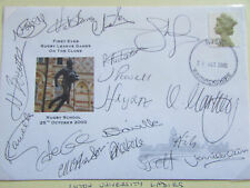 LUTON  University Ladies  MULTI  Signed Original  RUGBY League  FDC  25/10/2000