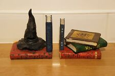 Harry Potter Bookends, Wizard Books, Sorting Hat, Hogwarts, Enesco Group 2000.
