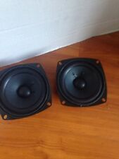 "NEW (2) JVC 4.5"" Woofer Speakers.Full Range.Pair.8 ohm.four half inch cushion"
