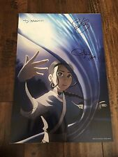 Avatar The Last Airbender Katara Poster Exclusive 2006 SIGNED