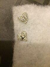 NEW VIVIENNE WESTWOOD Silver Metal HEART Diamante Orb Earrings
