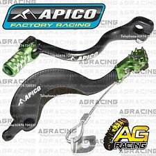 Apico Black Green Rear Brake & Gear Pedal Lever For Kawasaki KX 250 2005-2008