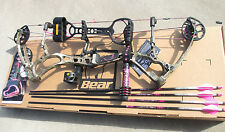 NEW Bear Rumor 40-50 lbs Womens BOW PINK Camo TROPHY RIDGE PACKAGE RTH W/ARROWS
