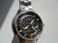 Fossil skeleton Automatic men's water resistant stainless steel watch.ME-1045