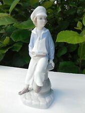 Lladro #4810 ~ BOY WITH YACHT ~ Sailboat ~ Retired  *** MINT CONDITION ***