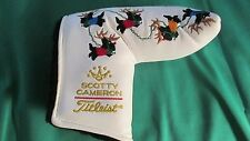 SCOTTY CAMERON WHITE HAPPY HOLIDAYS 05 FLYING SCOTTY DOG REINDEER HEADCOVER NEW