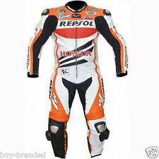 REPSOL BIKER MOTORCYCLE LEATHER SUIT RACING Cowhide LEATHER SUIT One Piece