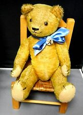 Antique 14 inch golden mohair jointed Teddy Bear