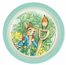 Peter Rabbit Child's Kids Baby Plate Green Melamine - Petit Jour Paris
