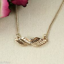 N5 Gold Plated Crystals Angel Wings Necklace  -  Gift boxed