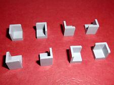Lego (6231) 8 Innenecken 1x1x1, in hellgrau aus 6211, 6752, 3185, 7657