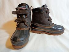ITASCA Thinsulate Snow Boots Brown Toddler Size 8 Leather Rubber 647606 Leopard