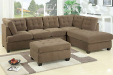 Sectional Sofa 2 Piece W/ reversible Chaise Truffle Living Room Furniture Set